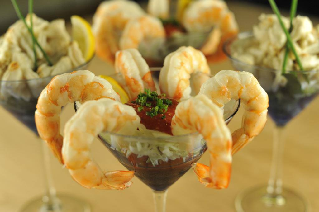 FFC's shrimp cocktail looking quite appetizing at their Flagler Beach restaurant