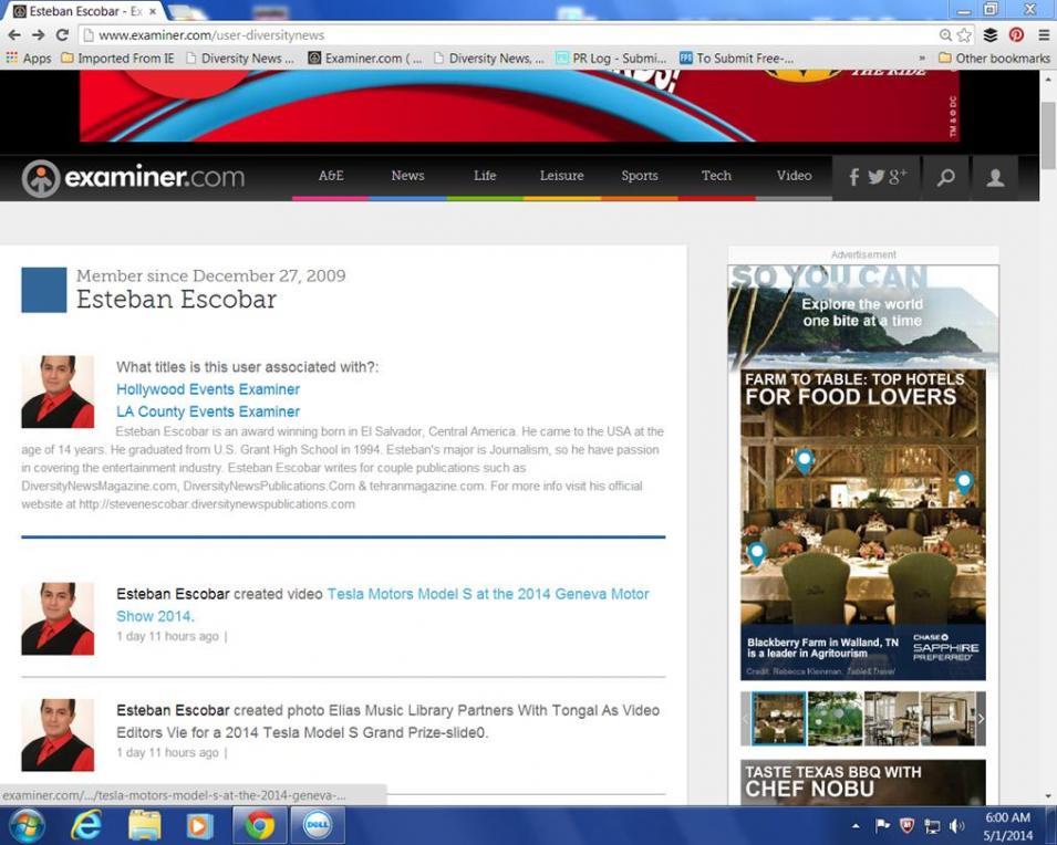Examiner.com resignation 5-1-2014