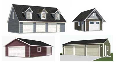 over 300 garage plans available at Behm Design