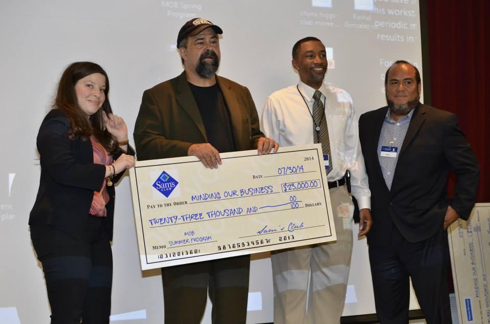 Sam's Club $25,000 check presentation