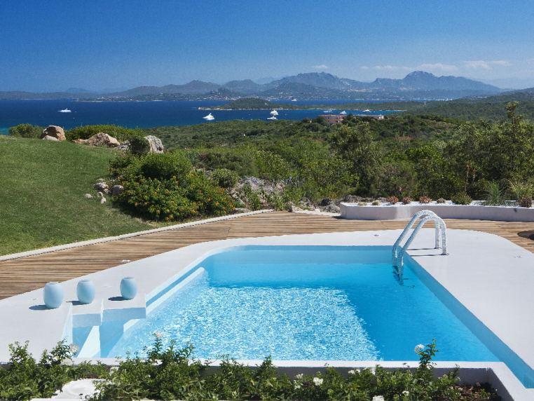 The charming view from Villa Principe in Costa Smeralda