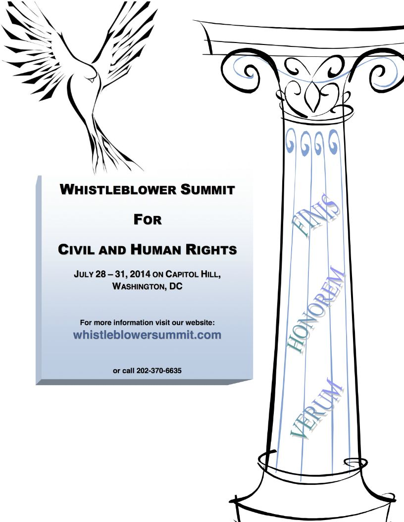 Whistleblower Summit for Civil and Human Rights: Program Brochure and Poster