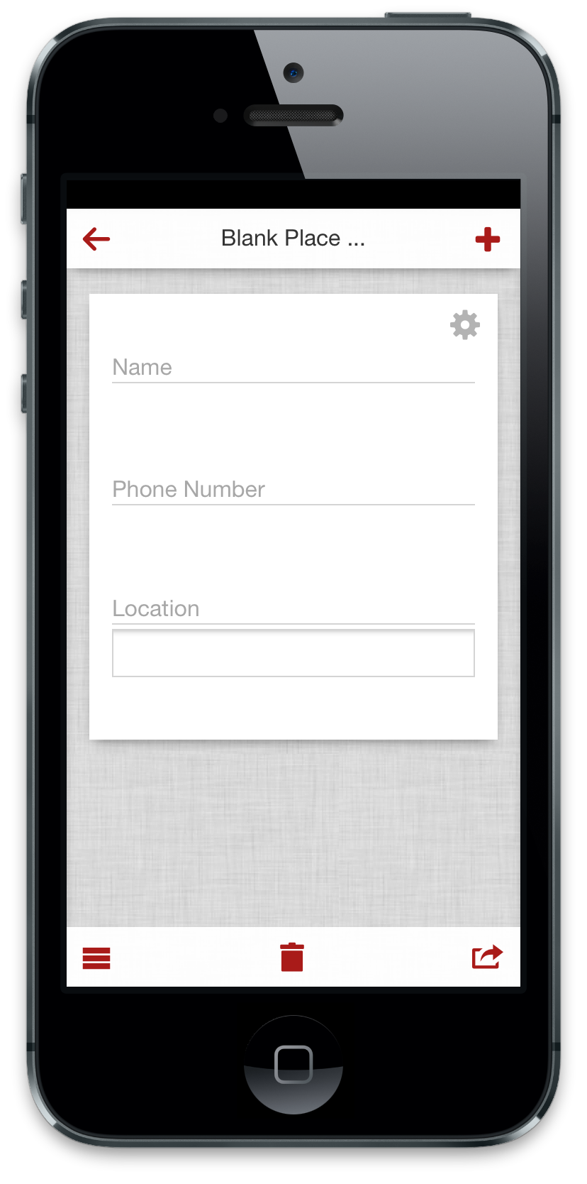 Input data from your smart phone.