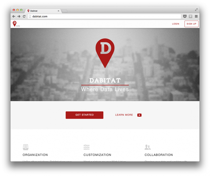 Redesigned front page
