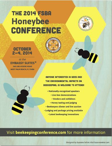Poster for 94th annual Florida State Beekeepers Association Conference