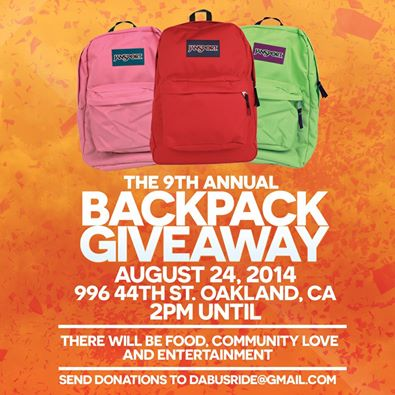 9th Annual Backpack Giveaway