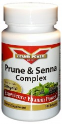 Prune and Senna Complex Softgels by Vitamin Power