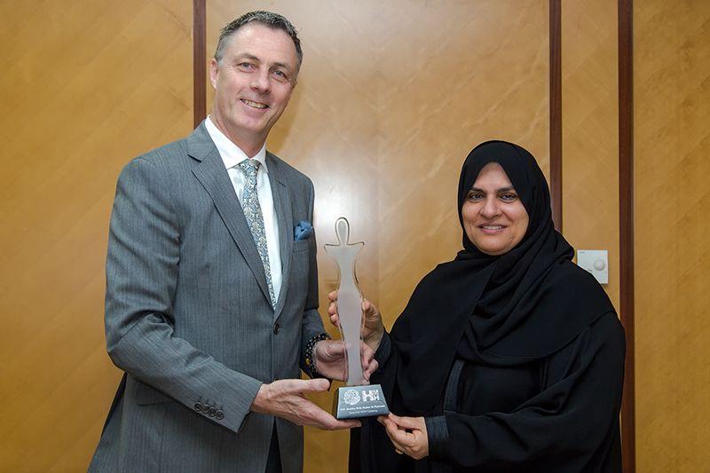 HMH CEO Laurent A. Voivenel with Mrs Raja Al Gurg