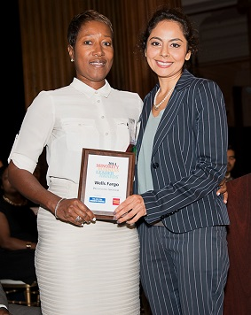 Jidan Cleaning owner Patricia Claybrook (L) was named a Minority Business Leader