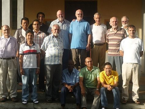 Fr. Carl (top row center left) at 2013 Retreat in Sierra Leone