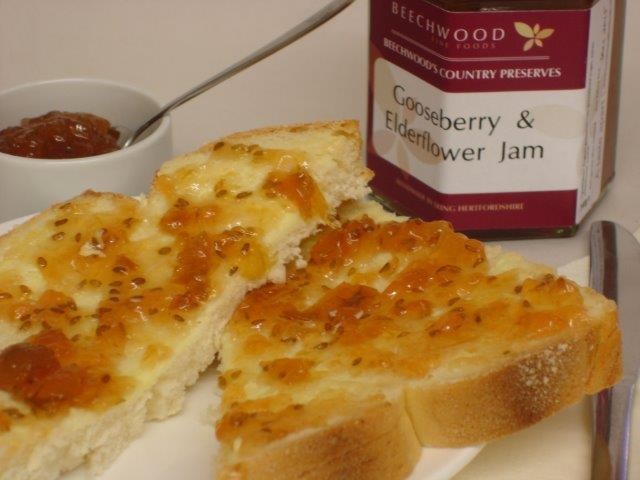 Award Winning Gooseberry & Elderflower Jam sml