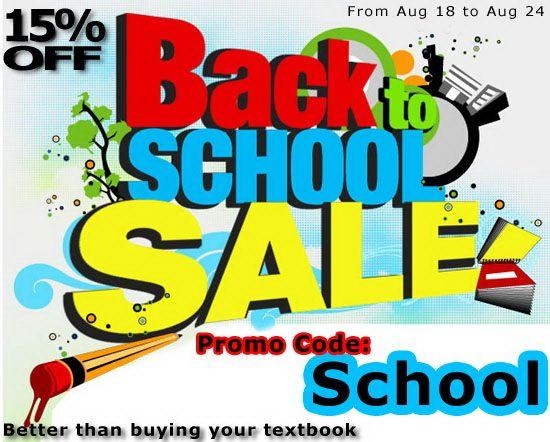 Back to School Sale 2014