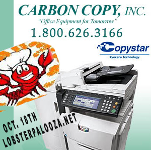 Carbon Copy Supports LobsterPalooza.net October 18th 530-344-1883 for Tickets