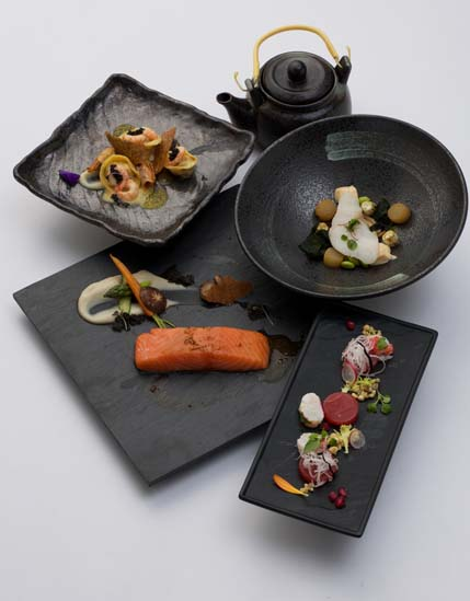 The winning menu at Otto Weibel & Norwegian Salmon Young Chefs Competition 2014