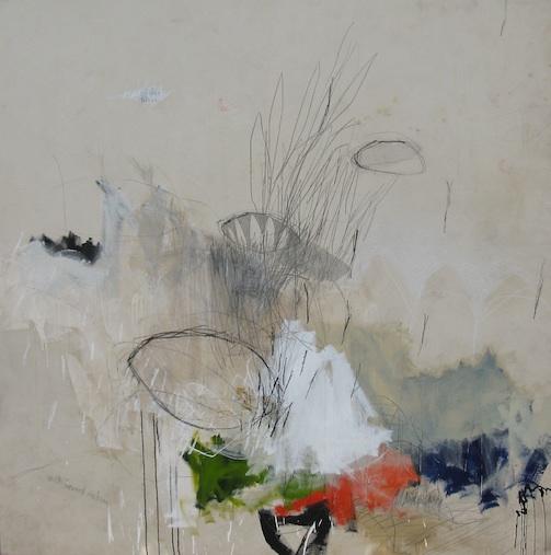 Forward, 84w x 85h, mixed media on canvas, 2014