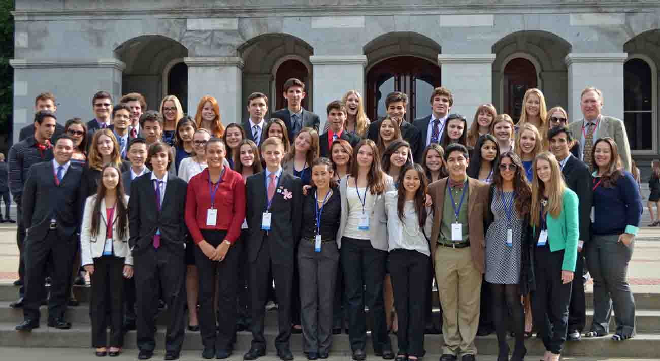 Miller YMCA's Youth & Government delegates in Sacramento.