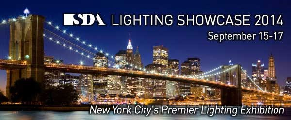SDA Lighting Showcase in NYC scheduled for Sept 15 - 17