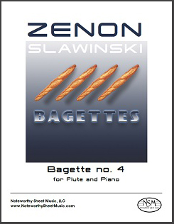 """Bagette no. 4"" for flute and piano, composed by Zenon Slawinski."