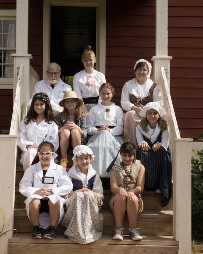 Campers at the Historic Murray Farmhouse (photo by Lois Wilkes)
