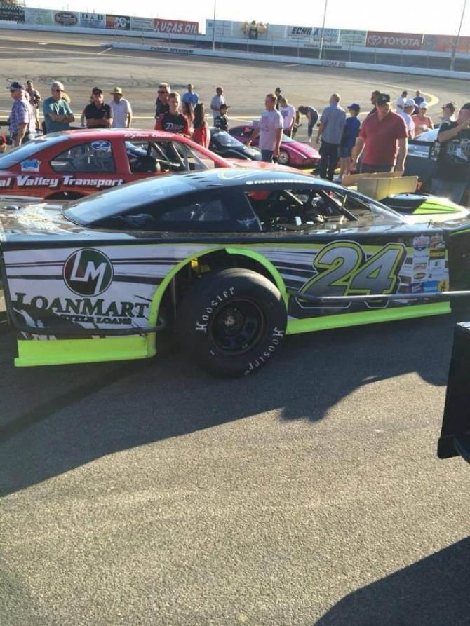 LoanMart Racing's Modified car driven by Shelby Stroebel