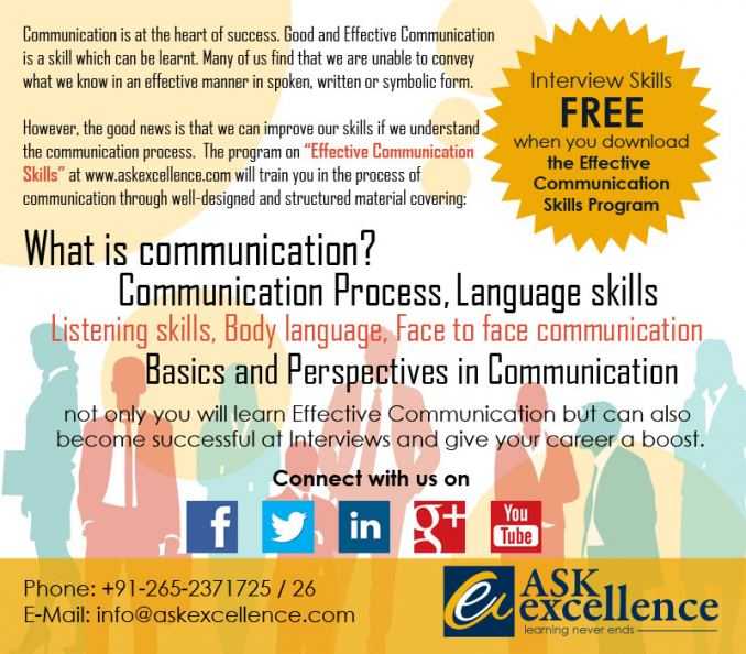 Contact us to improve your communication Skill