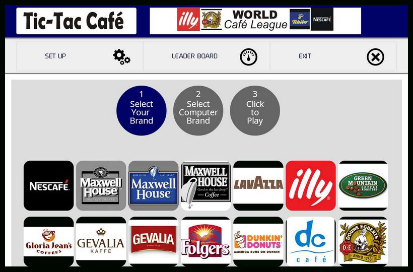 Tic-Tac Cafe on the TT-VIEW Game Platform