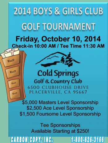 Boys & Girls Golf Tournament w/Carter Kelly & Carbon Copy 4 Your Scanning Needs
