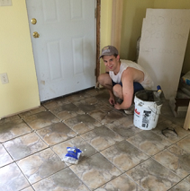 Grout Medic providing free services for a Habitat for Humanity home.