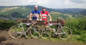Geoff and David of Advanced Removals during the L'Eroica 2014