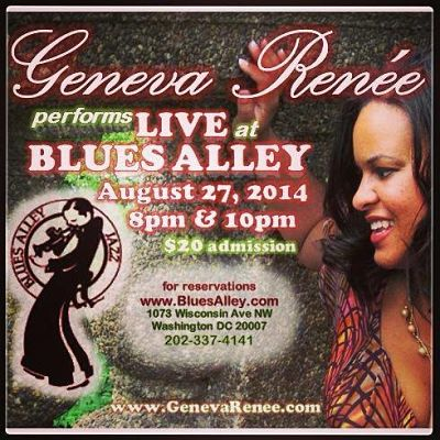 Geneva Renée Blues Alley flyer
