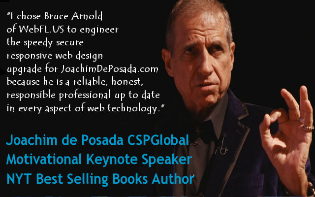 Latino Motivational Speaker Joachim de Posada