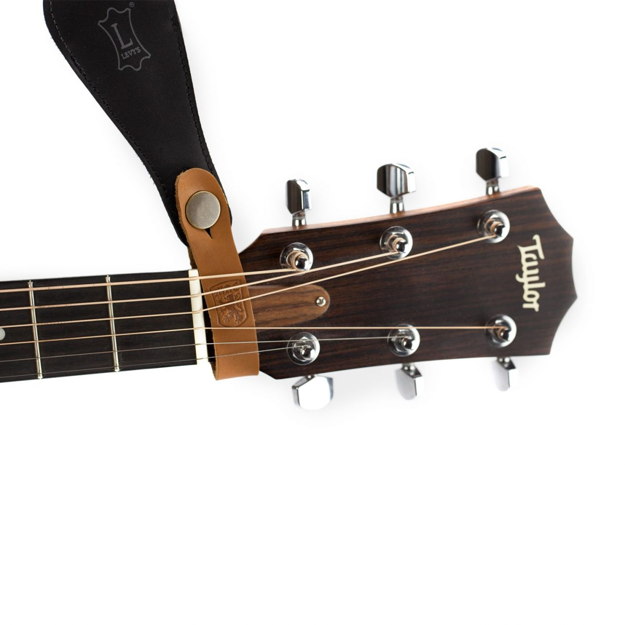 Acoustic Guitar Strap Holder comes in Cognac Tan, Chestnut Brown & Havana Brown.