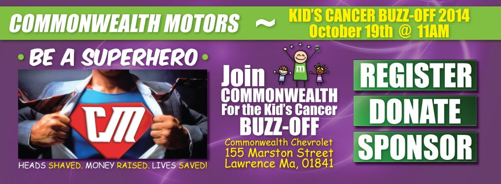 2014 commonwealth motors kids cancer buzz off for Commonwealth motors lawrence massachusetts