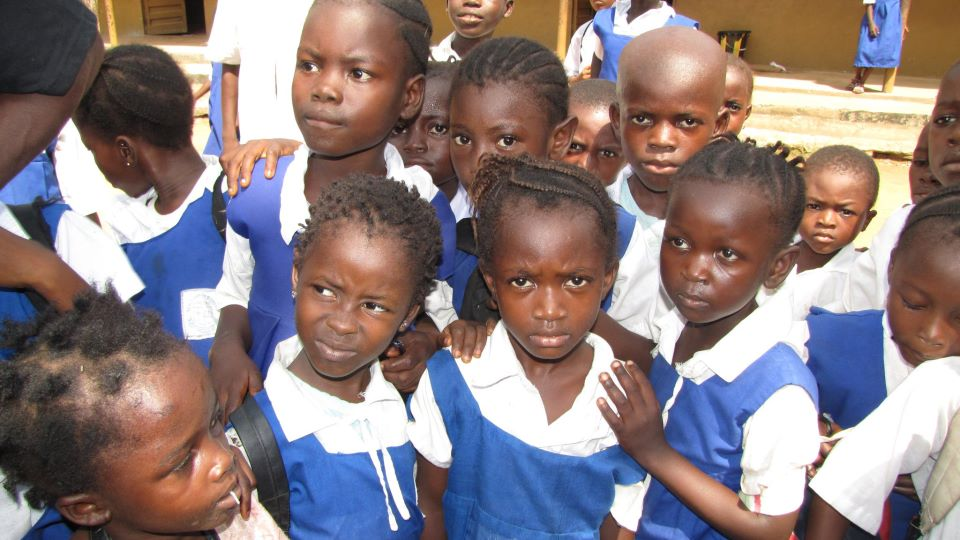 Children in Sierra Leone, West Africa