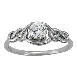 Double Love Knot Pre Engagement Ring