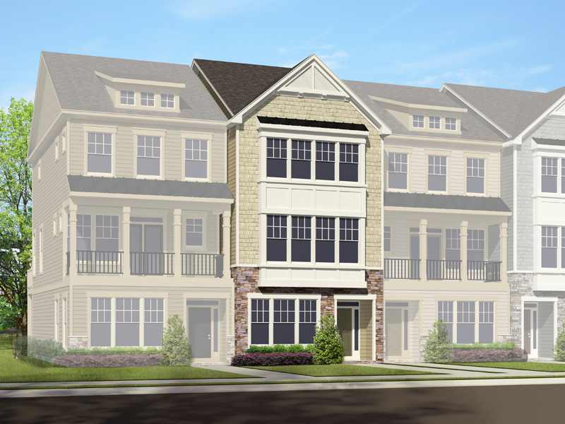 HHHunt Homes' Quarterpath Townhomes Rendering