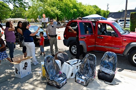 Child Car Seat Inspection at Community Safety Satu