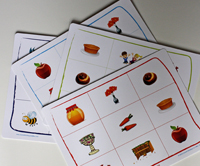 Rosh Hashanah Bingo for Family Laughter & Learning. Under $15 from Amazon.com.