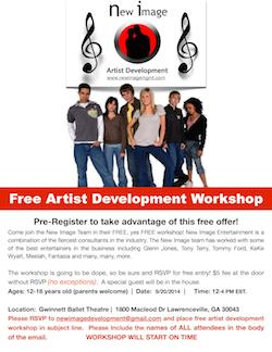 Free Artist Development Workshop