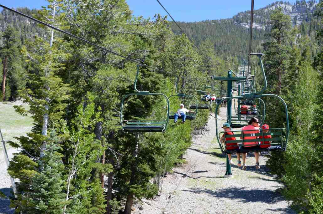 Chair lift rides at the Las Vegas Ski & Snowboard Resort