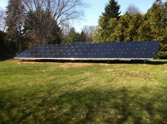 Ground-mounted Solar PV system in Pennsylvania (installed by Exact Solar)