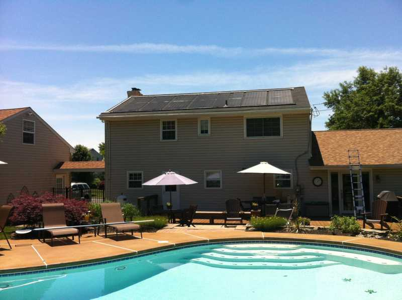 Solar Pool Heating System installed by Exact Solar