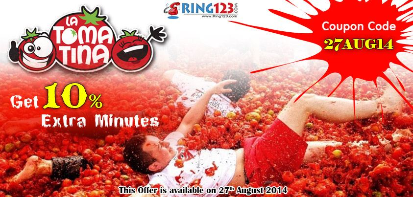 10% discount on International Calling Card by Ring123