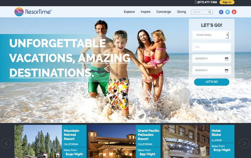 ResorTime Launches New Web Site