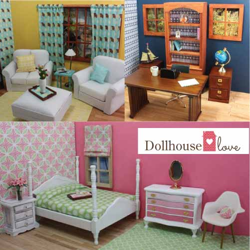 Dollhouse love reinvents dollhouses for diy decorating and - Decor house furniture ...