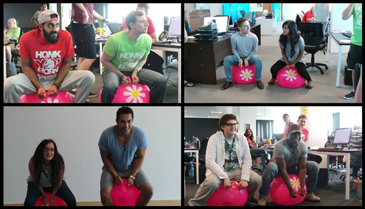Space Hopper Race At Asons Solicitors