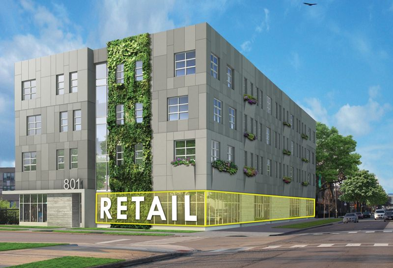 Rendering of New Building at 801 E. 61st Street.