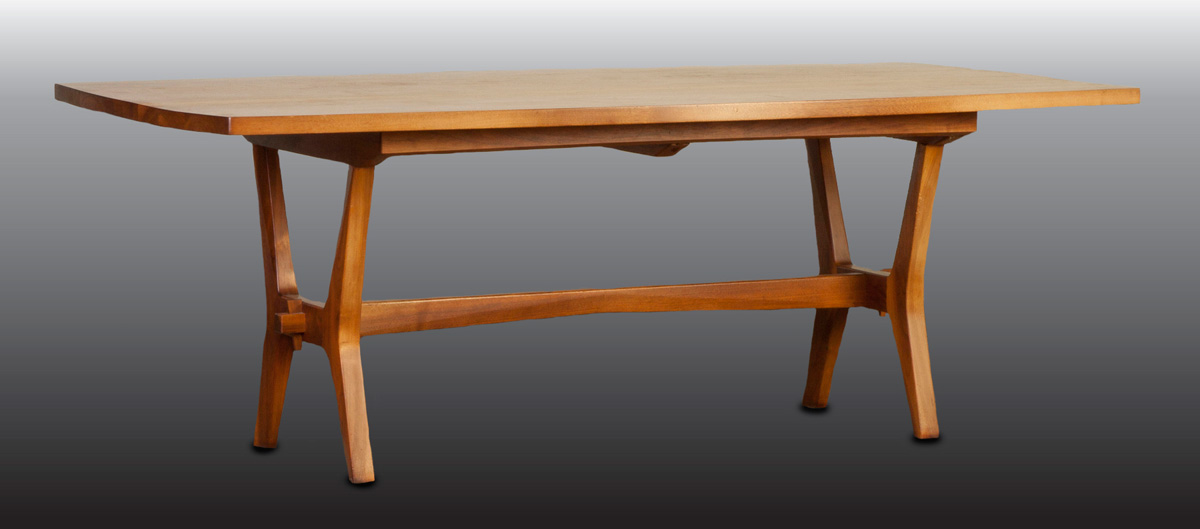 7-foot-wide dining table by the Danish Mid-Century Modern designer Tage Frid