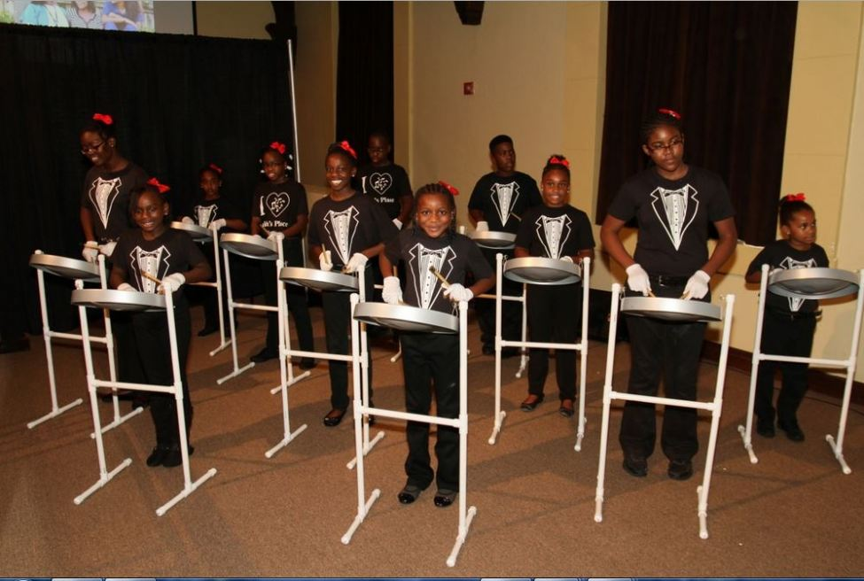 Steel drummers from Faith's Place Center for Education