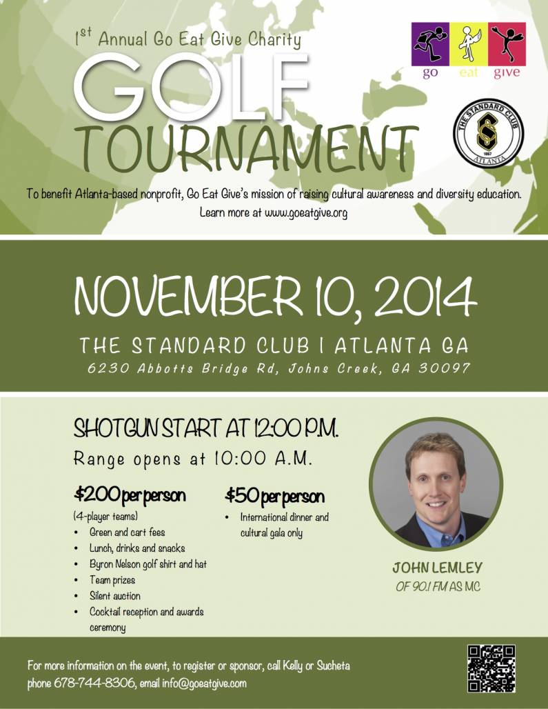 Golf for Go Eat Give 2014 Flyer